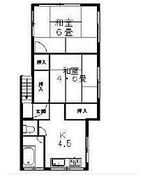 [一戸建] 東京都品川区大井7丁目 の賃貸【/】の間取り