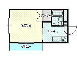 JR山形新幹線 山形駅 バス18分 飯田アパート前下車 徒歩3分の賃貸アパート 4階1Kの間取り