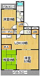 グリーンタウン石井[105号室]の間取り