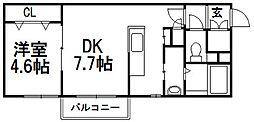 PLAZA M−7[207号室]の間取り