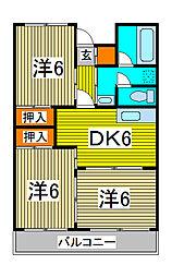 パークサイドハイム[3階]の間取り