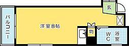サンモリッツ小倉壱番館[201号室]の間取り