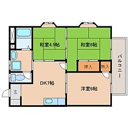 静岡県静岡市清水区梅ケ谷の賃貸アパートの間取り