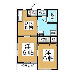 丸正アパート[2階]の間取り