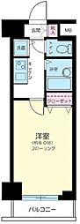 東京都中央区日本橋茅場町2丁目の賃貸マンションの間取り