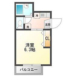 東京都三鷹市牟礼6丁目の賃貸マンションの間取り