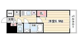 プレサンス京都二条京華 301[3階]の間取り