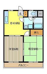 コ−ポ英[3階]の間取り