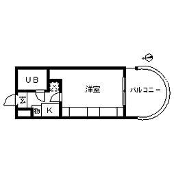エマーレ中野新橋[0202号室]の間取り