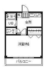 中祥マンションA[2階]の間取り