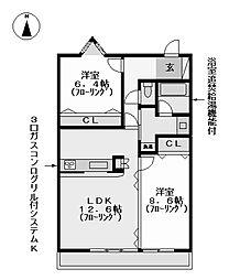 オベリスク寿 (オベリスクコトブキ)[4階]の間取り