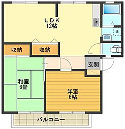 エトワールシノA[2階]の間取り