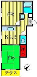メゾンヤマリ[101号室]の間取り