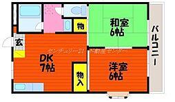 岡山県岡山市北区白石東新町の賃貸マンションの間取り
