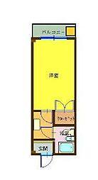 メゾンド一之江[203号室]の間取り