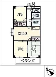 ドエル松[3階]の間取り