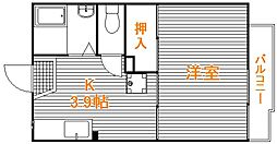 埼玉県川越市霞ケ関東2丁目の賃貸アパートの間取り