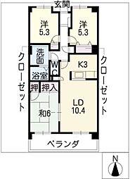 桃山ガーデンヒルズ[1階]の間取り