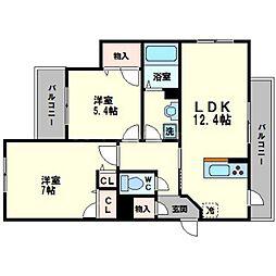 シャーメゾン翠風館[2階]の間取り