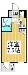 サンロード朝霞[4階]の間取り