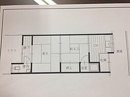 江美住宅[1階号室]の間取り