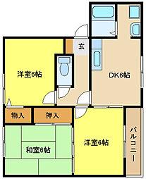 兵庫県姫路市御国野町国分寺の賃貸アパートの間取り