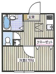 東京都文京区本郷5丁目の賃貸マンションの間取り
