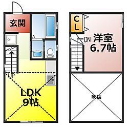 名鉄三河線 碧南中央駅 3.5kmの賃貸アパート 1階1LDKの間取り