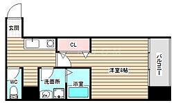 TOYOTOMI STAY premium梅田西2 2階1Kの間取り