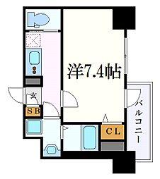 名古屋市営東山線 新栄町駅 徒歩7分の賃貸マンション 4階1Kの間取り