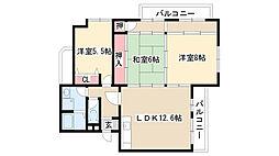 マンション富士[2A号室]の間取り