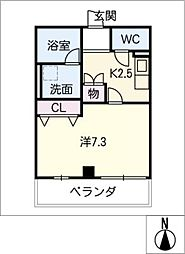 ウィング千種[3階]の間取り