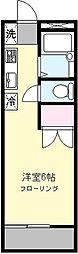 グランドール生田[203号室]の間取り