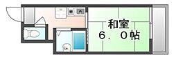広島県福山市霞町2丁目の賃貸マンションの間取り