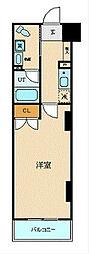 ブライトヒルレジデンス横浜 7階1Kの間取り