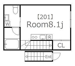 ジェラートII[2階]の間取り