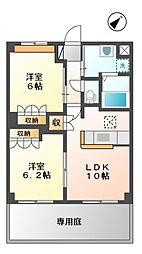 カサ・クレスタ[1階]の間取り