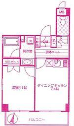 パークブリリアント[1階]の間取り