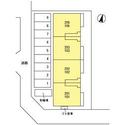 ボンヌール[102号室]の外観