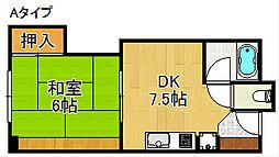 姫松マンション[3階]の間取り