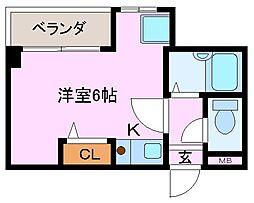 コンフォート大和屋[3階]の間取り