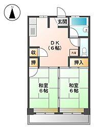 キシモトマンション[3階]の間取り