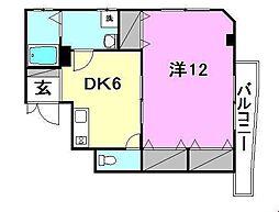 サザンコート枝松[201 号室号室]の間取り