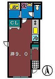 エスポアール(大久保)[1階]の間取り