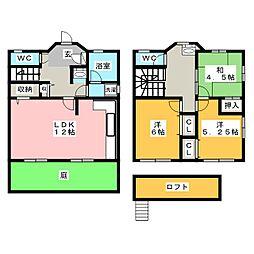 [一戸建] 愛知県尾張旭市霞ケ丘町中 の賃貸【/】の間取り
