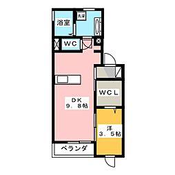 クレセールゆいの杜3丁目A[2階]の間取り