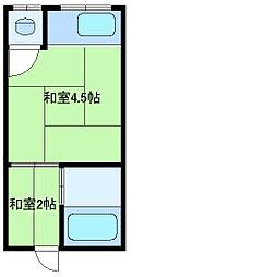 兵庫県尼崎市東難波町5丁目の賃貸アパートの間取り