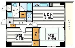 ホワイトマーブル[5階]の間取り