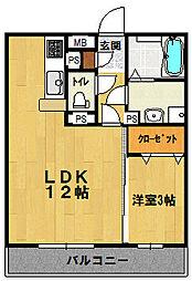 PLUS3[307号室]の間取り