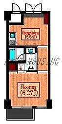 JR山手線 原宿駅 徒歩2分の賃貸マンション 2階1DKの間取り